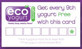 Eco Yogurt Lounge Special Offer