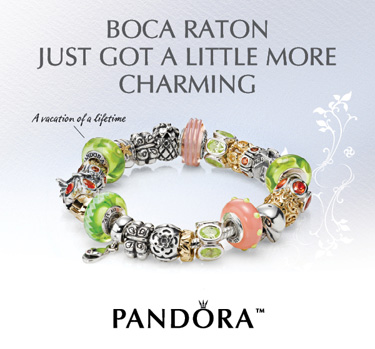 Pandora Jewelry Store Located inside Town Center Mall in Boca Raton, FL